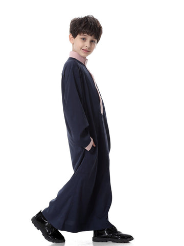 Muslim Boys White Thobes Clothing Navy Blue