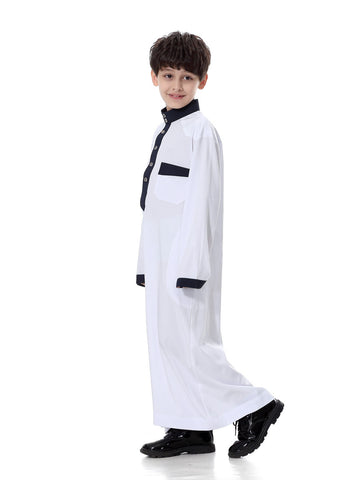 Muslim Boys Robe Clothing White