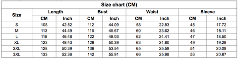 Jubba Thobe Men Size Guide
