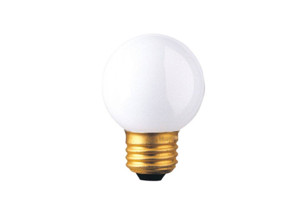 Frosted 25W G16 Medium Based Incandescent Bulb