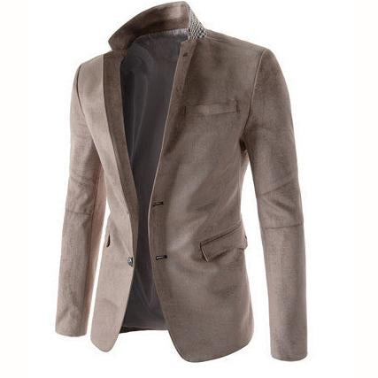 Fashion Trend Men's Two Single-Breasted Suede Casual Jacket