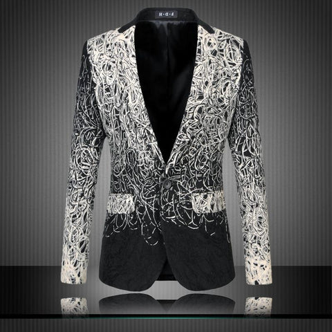 Men's Party / Daily Street Chic / Sophisticated Spring / Fall Plus Size Regular Blazer