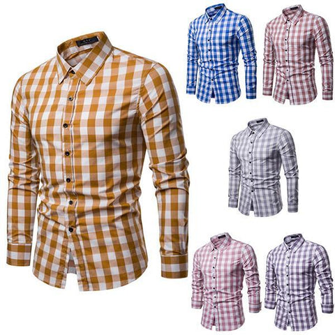 Classic Multicolor Fashion Plaid Shirt
