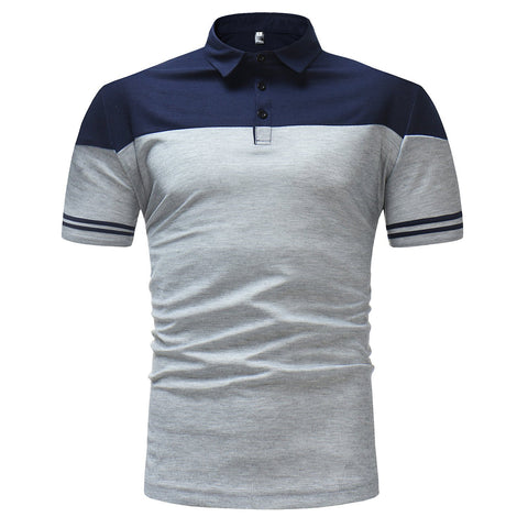 Color Matching POLO Short-Sleeved T-Shirt