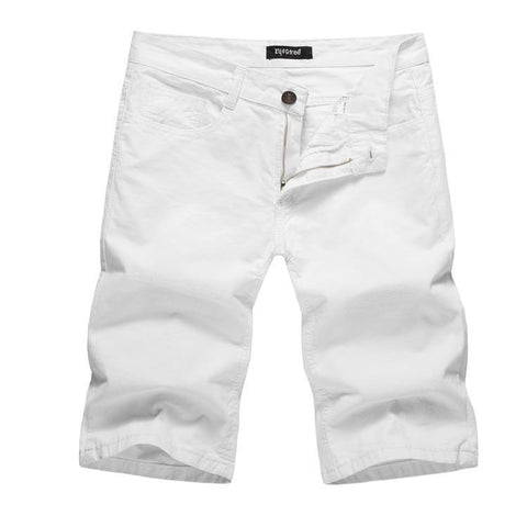 Basic Solid Color Casual Shorts