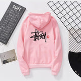 Hooded  Cutout  Letters Hoodies