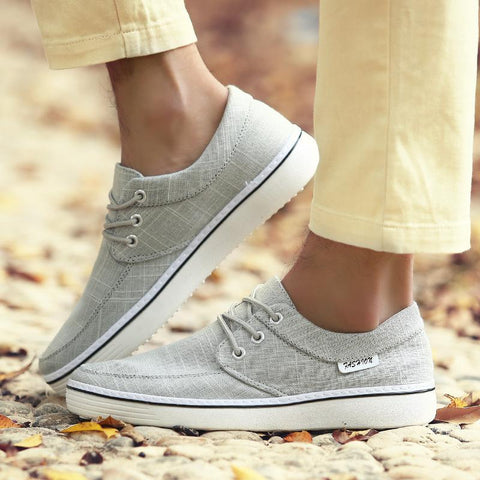 Casual Plain Strappy Round Head Canvas Shoes