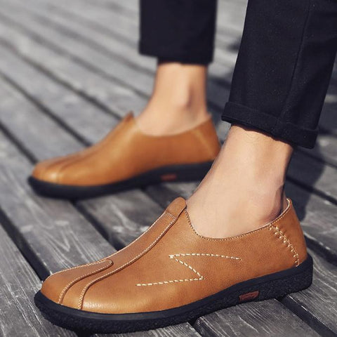 Leather Soft Bottom Business England Men's Casual Shoes