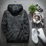 Men's Fashion Camouflage Windproof Hooded Jacket