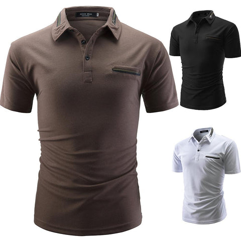 Casual Style Lapel Men's T-Shirts