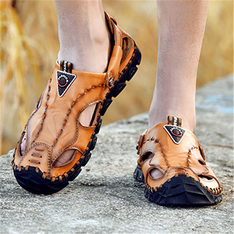 Men's Casual   Breathable Soft Bottom Beach Sandals