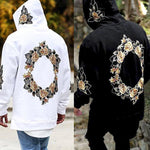 Men's Fashion Loose Flower Print Hoodie