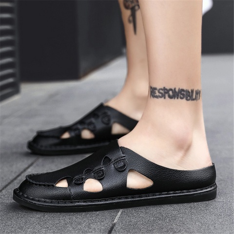 Men's Fashion   Breathable Personality Slippers