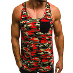 Men's Fashion Beach Camouflage Slim Tanks