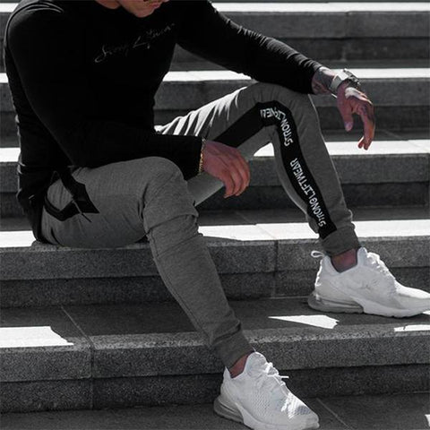 Fitness Fashion Solid Color Tight-Fitting Jogger Pants