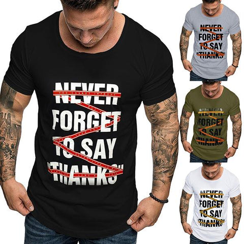 Men's Fashion Print Short Sleeve T-Shirt