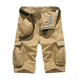 Men's Outdoor Style Solid Color Pocket Shorts