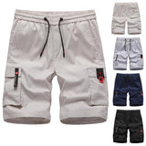 Men's Fashion Plus Size Solid Color Pocket Shorts