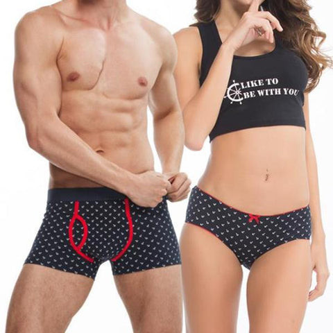 Couple Underwear Cotton Men And Women Underwear