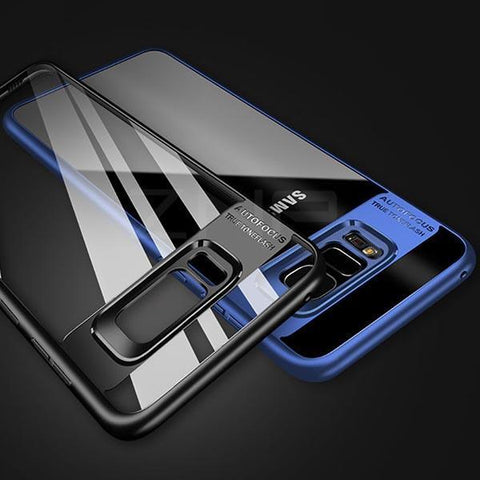 Full Cover Transparent Silicone Phone Case For Samsung