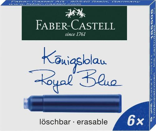 Faber-Castell Fountain Pen Ink - Royal Blue - 6 Cartridges - Fountain Pens Online