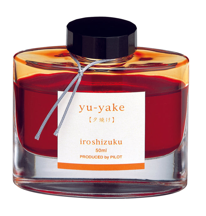 Pilot Iroshizuku Fountain Pen Ink - Yuyake (Sunset) - 50ml Bottle-Fountain Pens Online