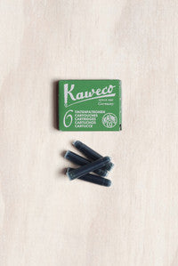 Kaweco Fountain Pen Ink - Green - 6 Cartridges - Fountain Pens Online