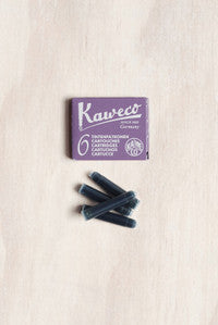 Kaweco Fountain Pen Ink - Purple - 6 Cartridges