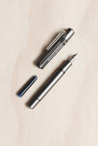Kaweco AL Sport Fountain Pen - Fine Nib - Grey - Fountain Pens Online