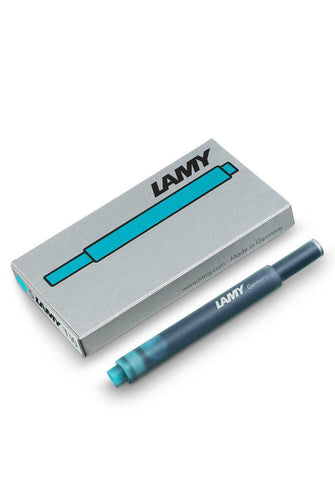 LAMY Fountain Pen Ink - Turquoise - 5 Cartridges - Fountain Pens Online
