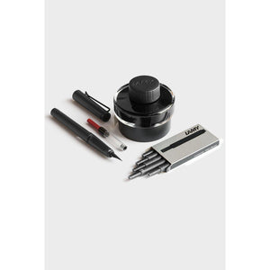 LAMY Safari Fountain Pen Gift Set - Matt Charcoal - Fountain Pens Online