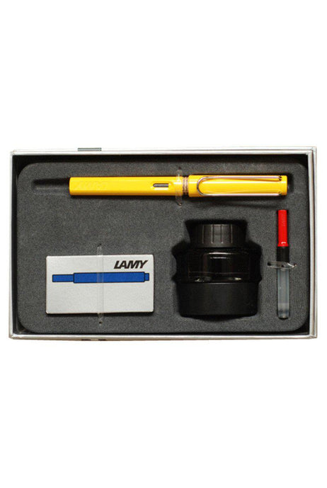 LAMY Safari Fountain Pen Gift Set - Yellow - Fountain Pens Online