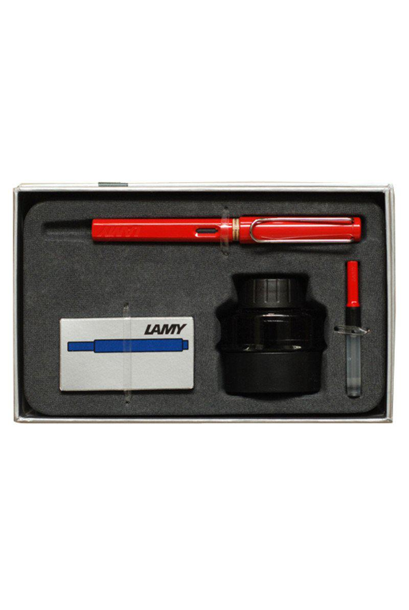 LAMY Safari Fountain Pen Gift Set - Red - Fountain Pens Online