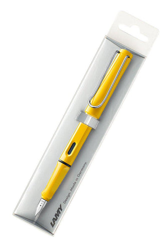LAMY Safari Fountain Pen - Medium Nib - Yellow - Fountain Pens Online