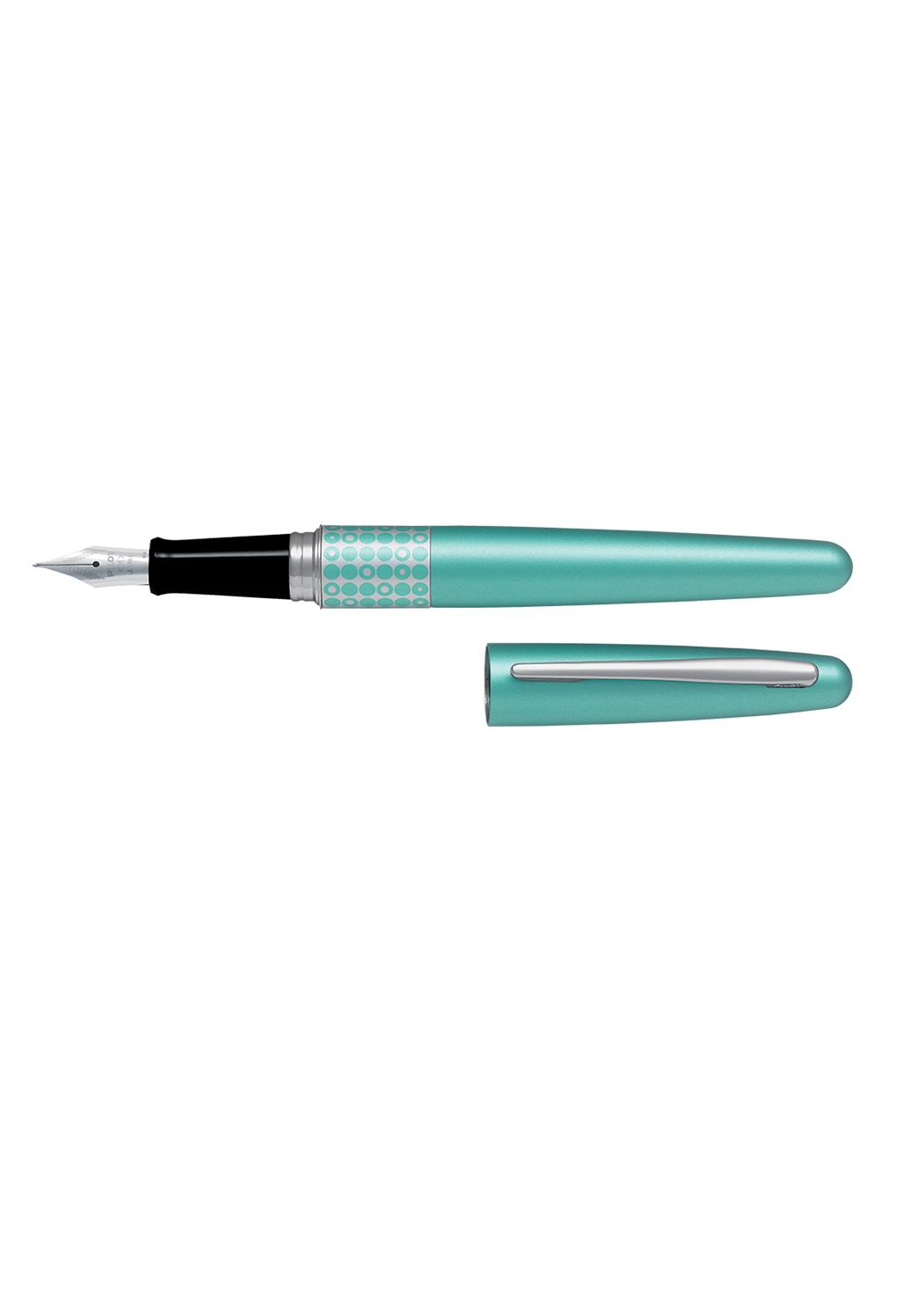 Pilot MR3 Fountain Pen - Medium Nib - Dots Aqua-Fountain Pens Online