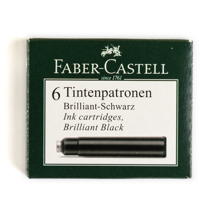 Faber-Castell Fountain Pen Ink - Black - 6 Cartridges - Fountain Pens Online
