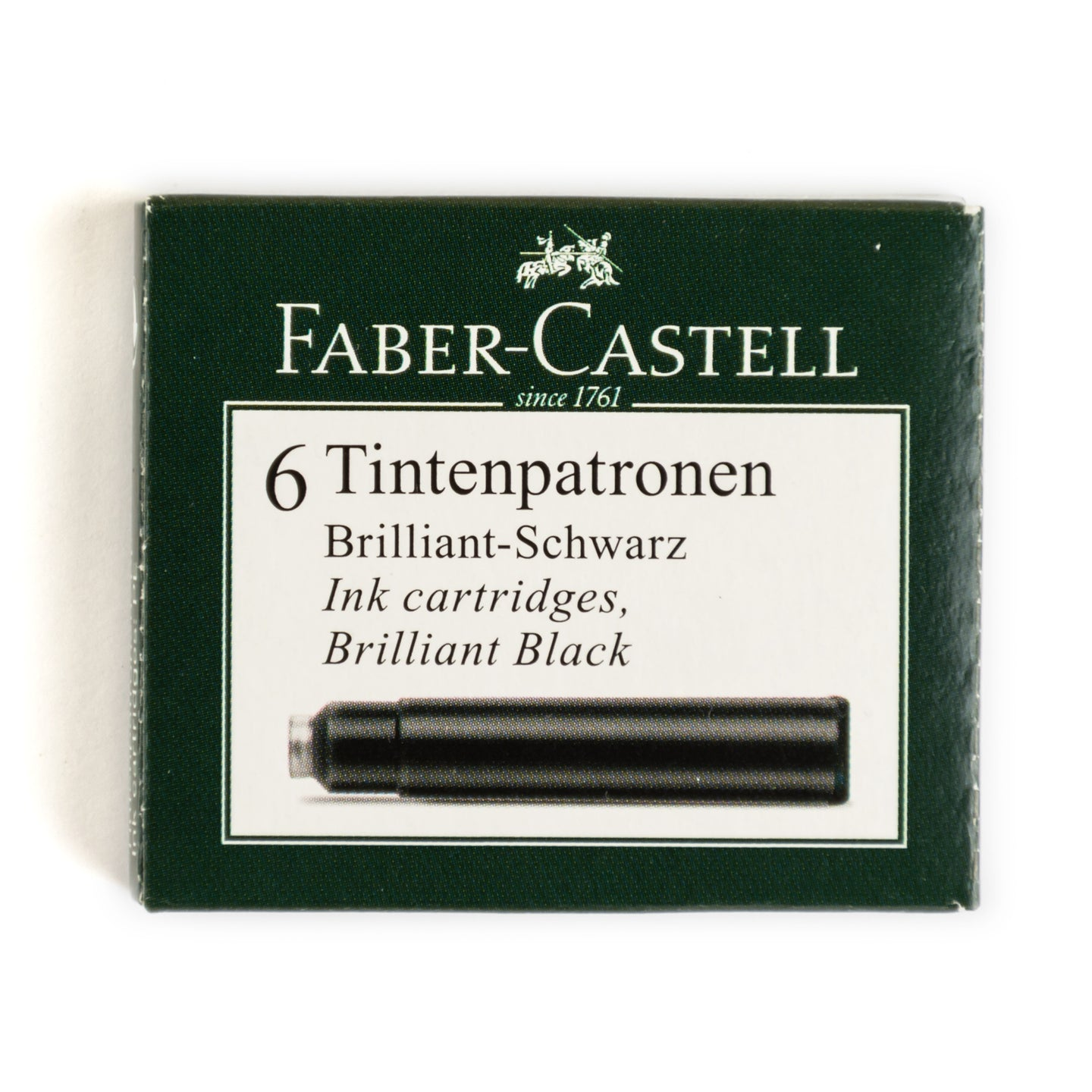Faber-Castell Fountain Pen Ink - Black - 6 Cartridges-Fountain Pens Online