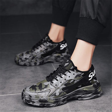 Men's Casual Wild Camouflage Printed Sneakers