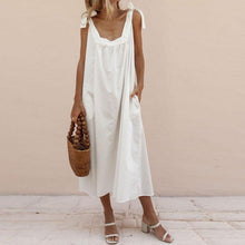 Load image into Gallery viewer, Spaghetti Strap  Plain  Sleeveless Maxi Dresses