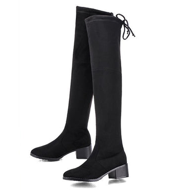 Stretch suede over the knee boots long boots BJ16