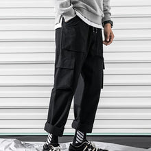 Load image into Gallery viewer, Multi-pocket overalls straight leg pants street trousers