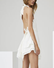 Load image into Gallery viewer, Hanging Neck Backless Multi-Layer Wave Hem Dress