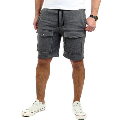 Big Pocket Shorts Sports Slim   Simple Casual Short pants