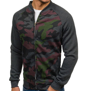 Fashion Mens Camouflage Long Sleeve Outerwear