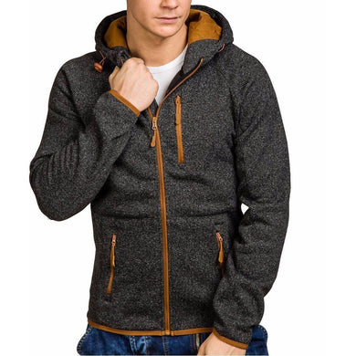 Jacket Men Autumn Casual Zipper Outerwear Coat