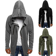 Load image into Gallery viewer, Men's Solid Color Fashion  Cardigan Hoodie
