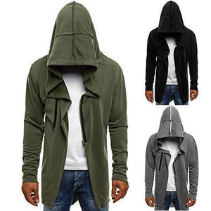Men's Solid Color Fashion  Cardigan Hoodie