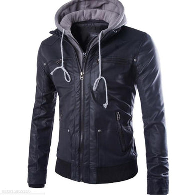 Fashion Casual Thermal Plain Long Sleeve Men Outerwear