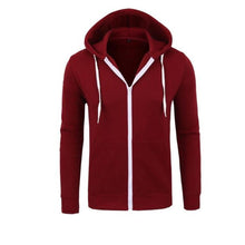 Load image into Gallery viewer, Fashion Youth Casual Loose Plain Zipper Long Sleeve Sport Hoodie