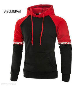 Loose Color Matching Men's Hoodie